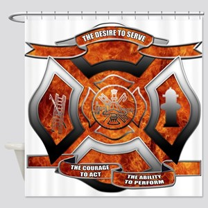 FD Seal Shower Curtain